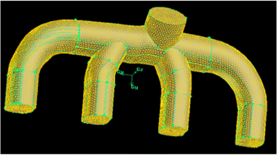 Optimized design of engine intake manifold based on 3D