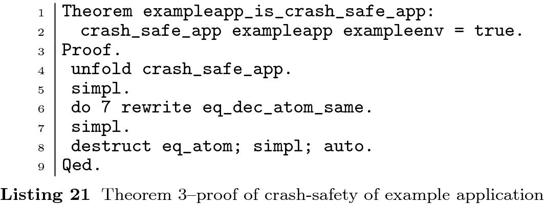 CrashSafe: a formal model for proving crash-safety of