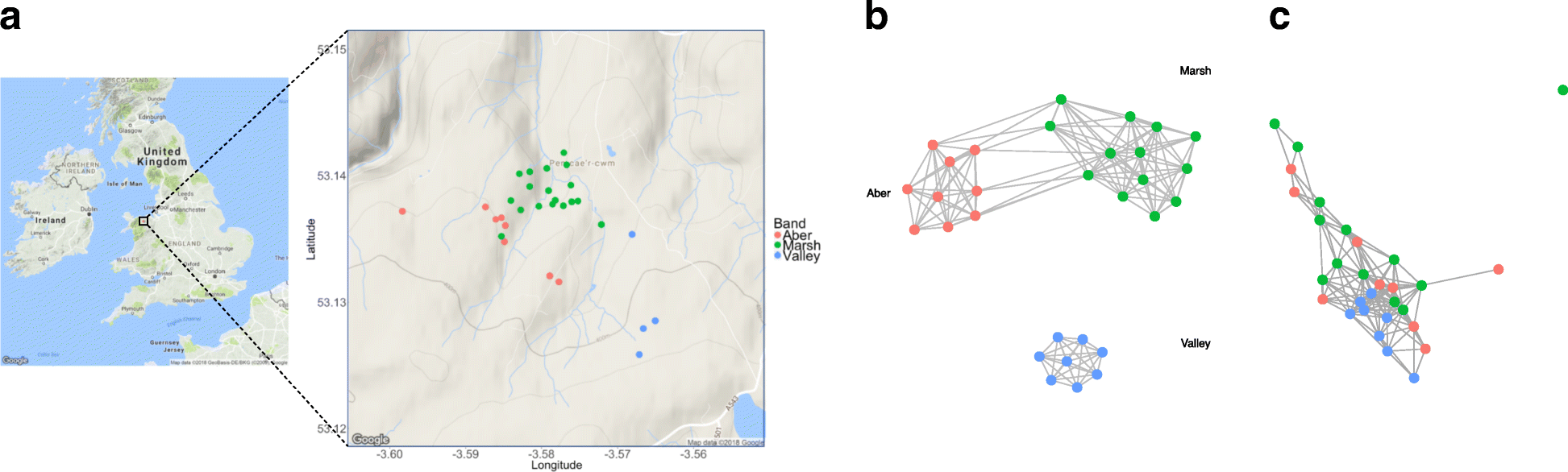 Gut microbiome composition is associated with spatial