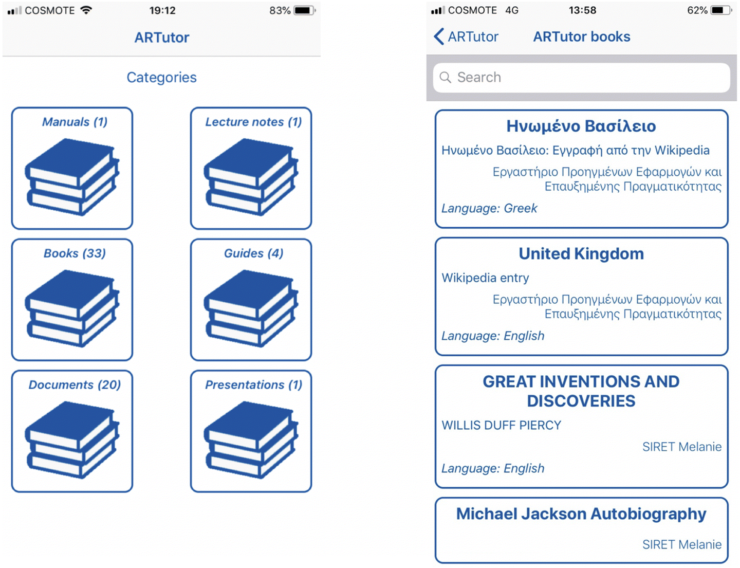 Evaluation of the ARTutor augmented reality educational