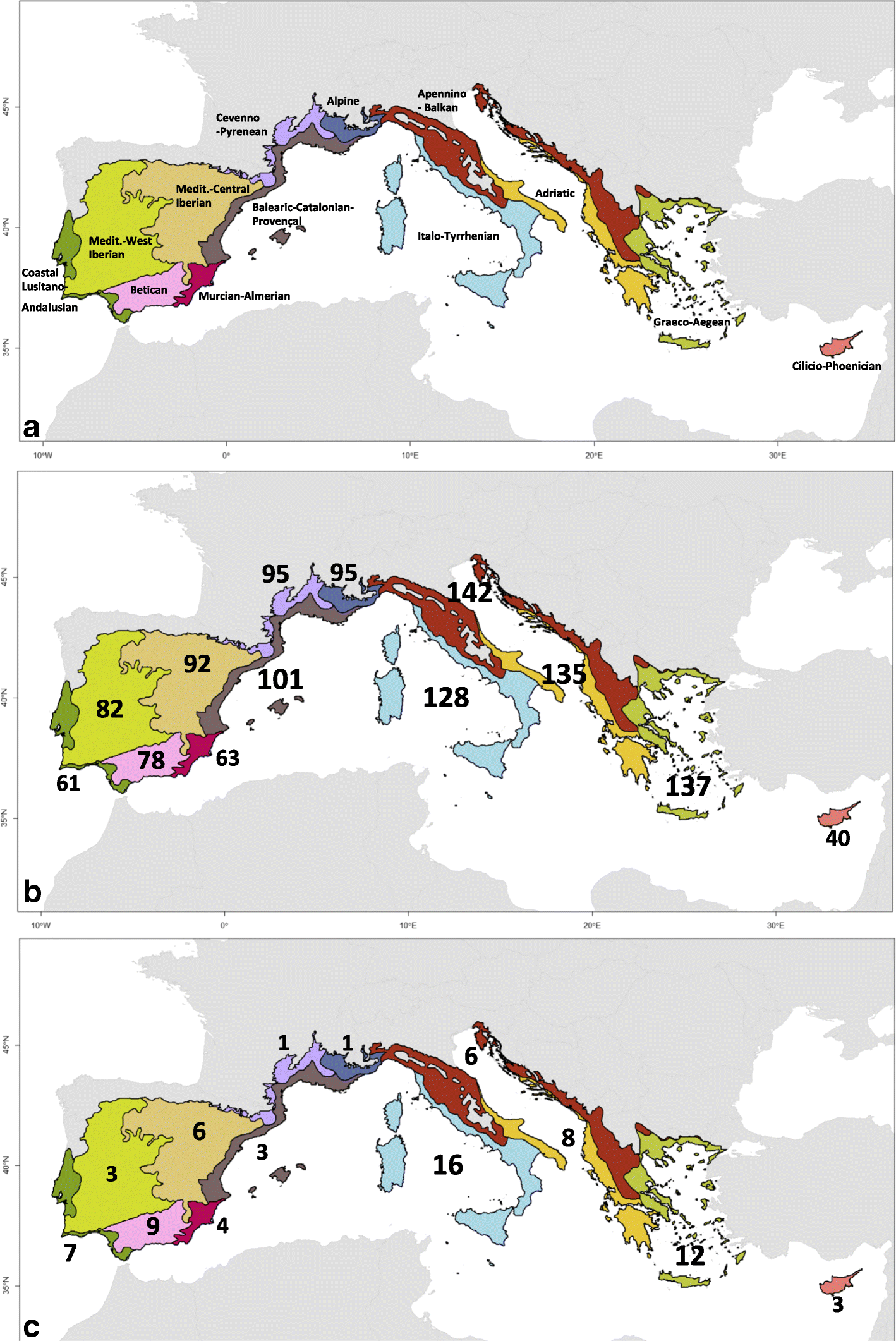 What is a tree in the Mediterranean Basin hotspot? A ...  Map Of Intree Ma on