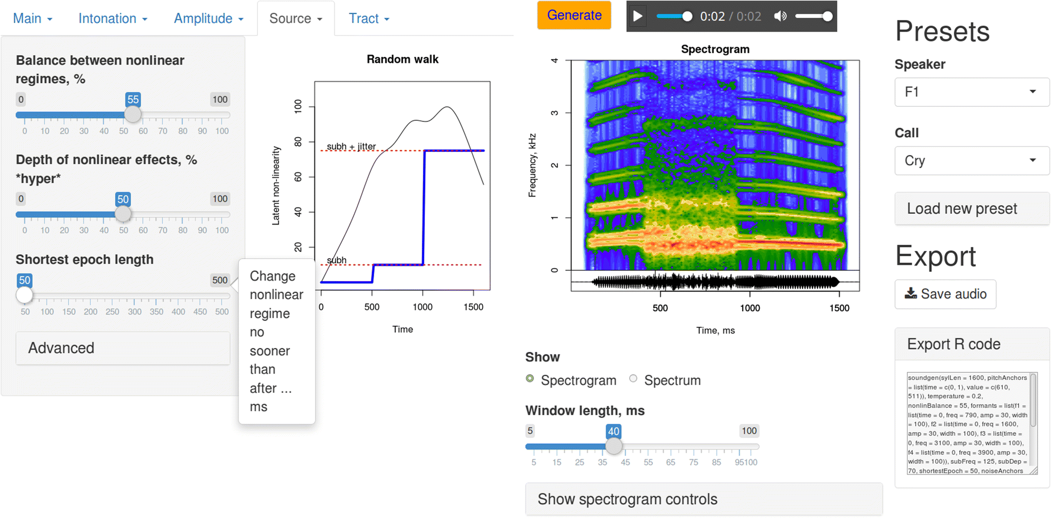 Soundgen: An open-source tool for synthesizing nonverbal
