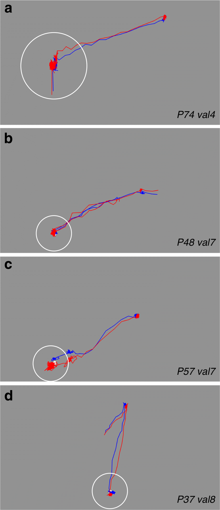Gaze tracking accuracy in humans: One eye is sometimes