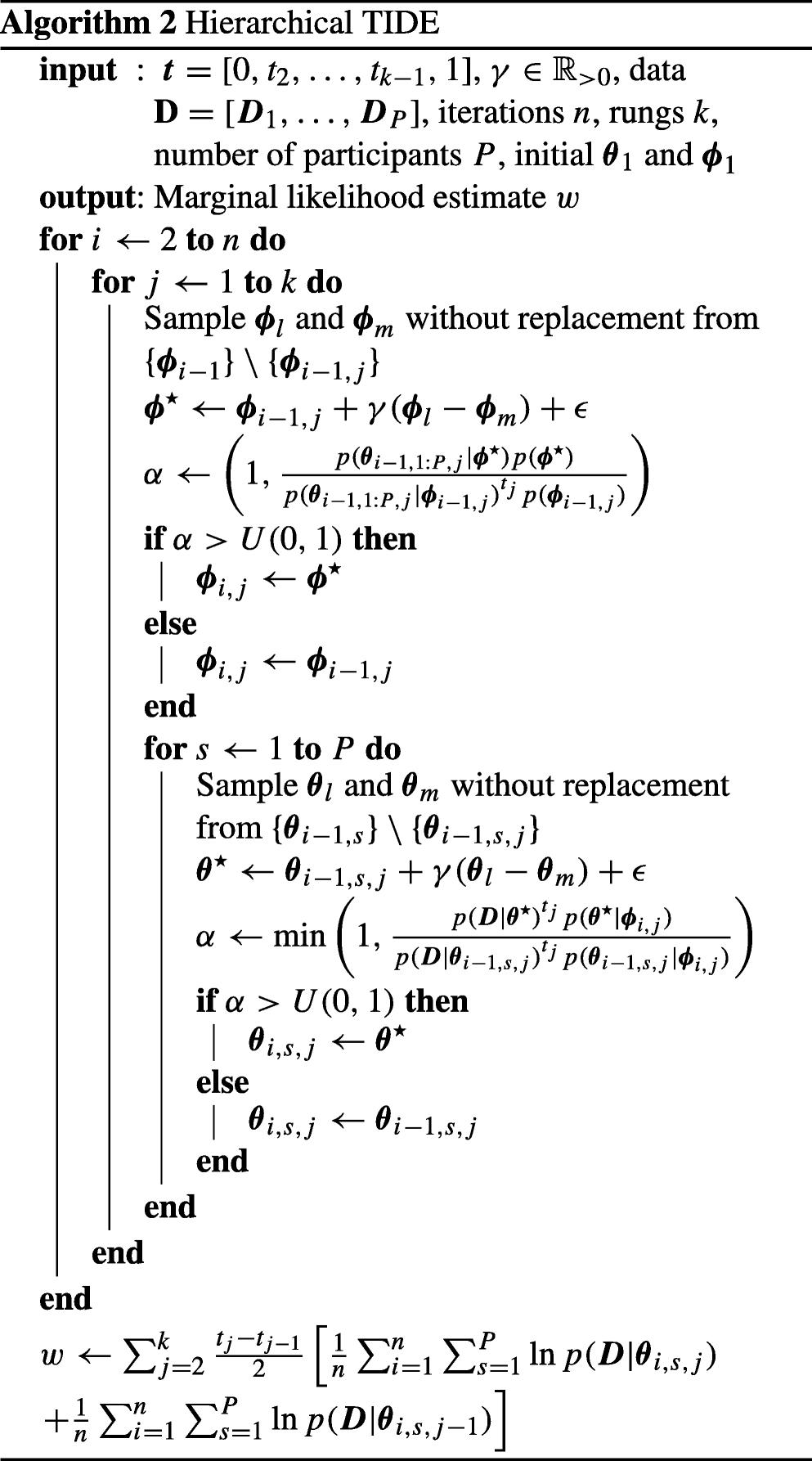 Thermodynamic integration via differential evolution: A