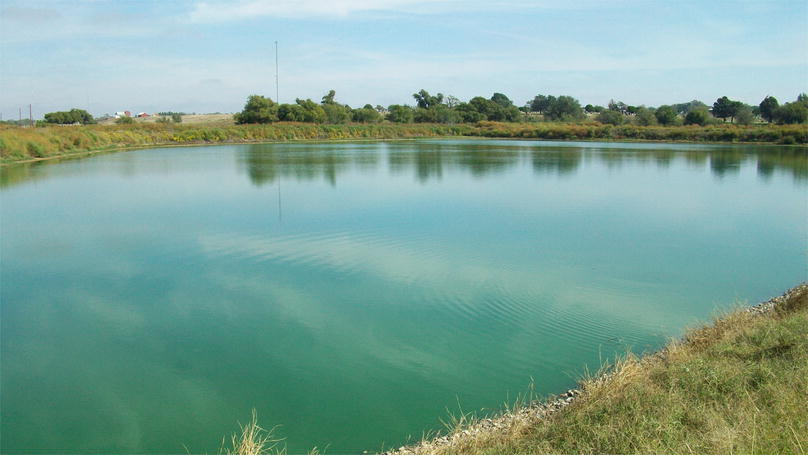 Oxidation Pond For Municipal Wastewater Treatment