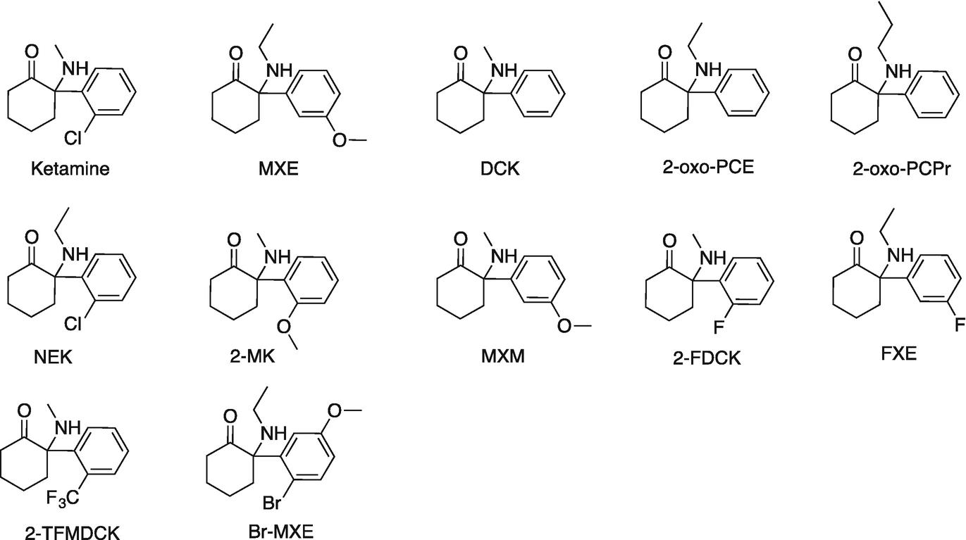 1,2-Diarylethylamine- and Ketamine-Based New Psychoactive