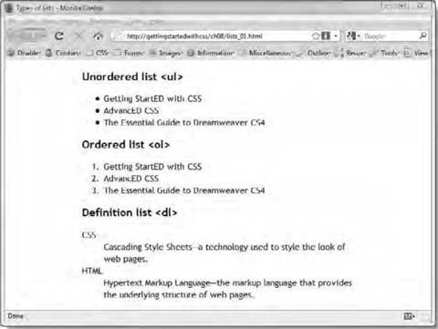 How Do I Style Lists and Navigation Menus? | SpringerLink