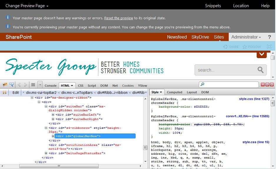 Building a SharePoint HTML Master Page | SpringerLink