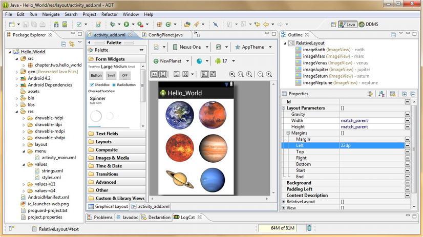 Android UI Design: Using Views and Widgets via XML