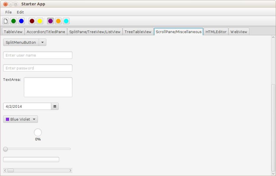 Using the JavaFX UI Controls | SpringerLink