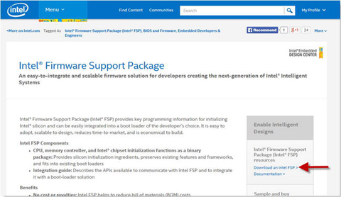 Intel® Firmware Support Package (Intel® FSP) | SpringerLink