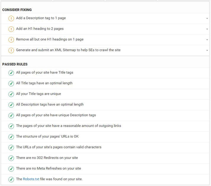 seo site audits springerlink