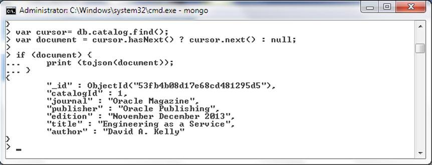 Using the Mongo Shell | SpringerLink