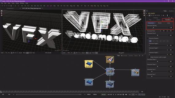 VFX Pipeline 3D Animation: 3D Text-Titling Modifiers