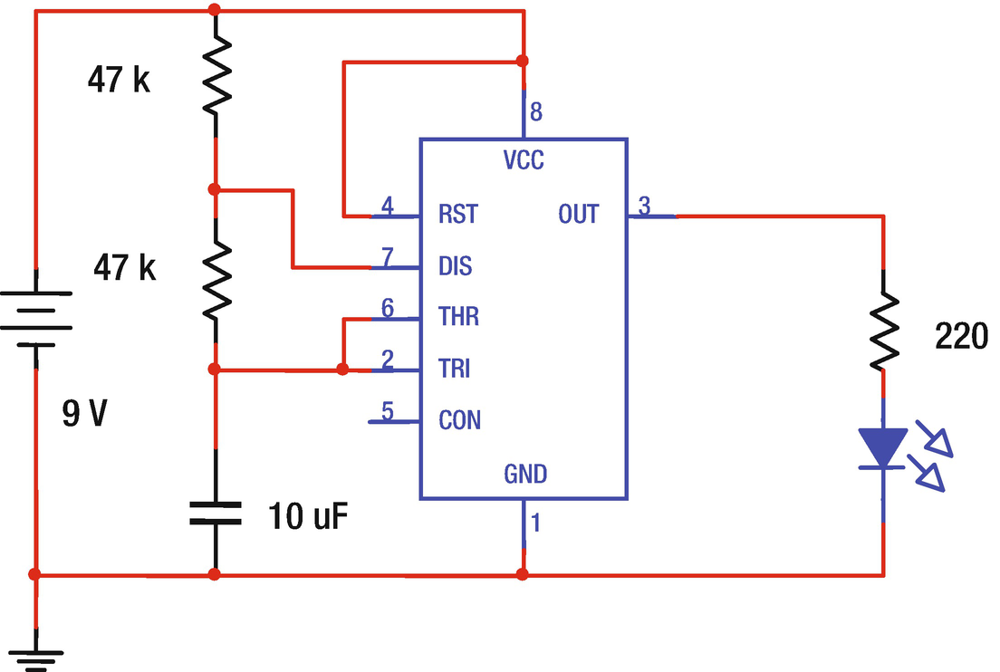 More Loops And Elegant Methods To Flash An Led Springerlink 555timer Alternating Blinking Circuit Issue Open Image In New Window
