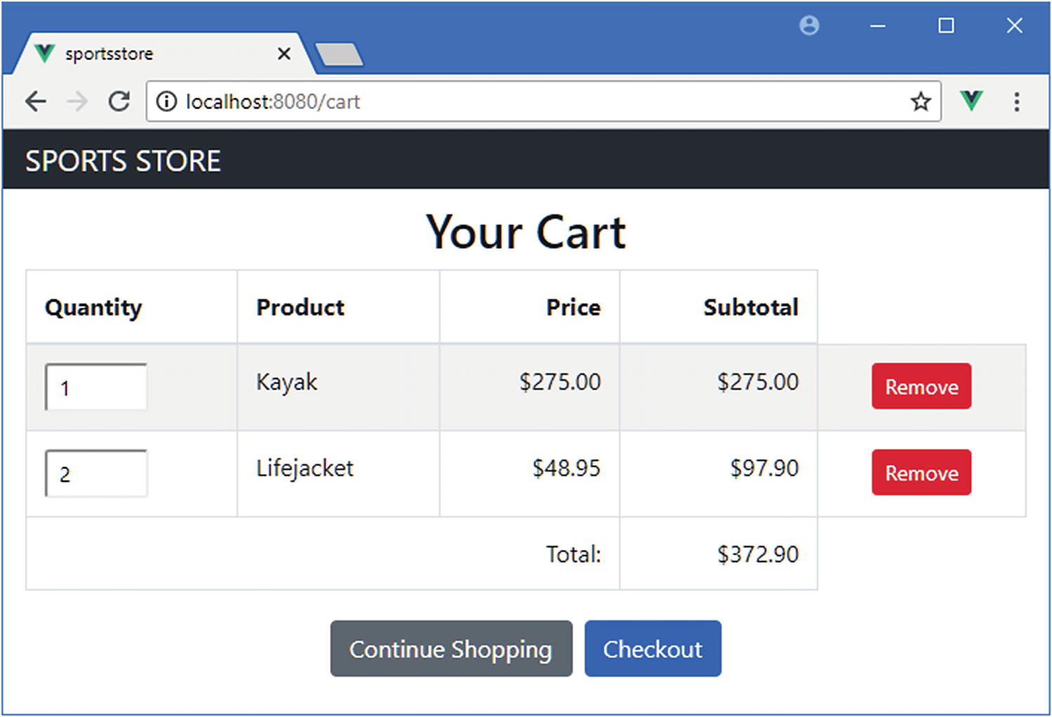 SportsStore: Checkout and Orders | SpringerLink