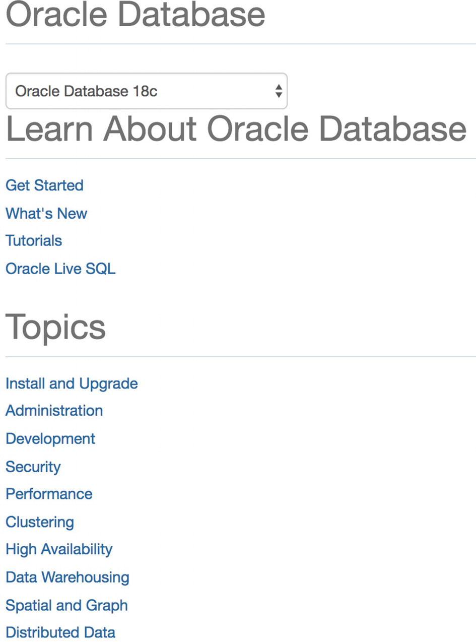 Oracle Documentation   SpringerLink