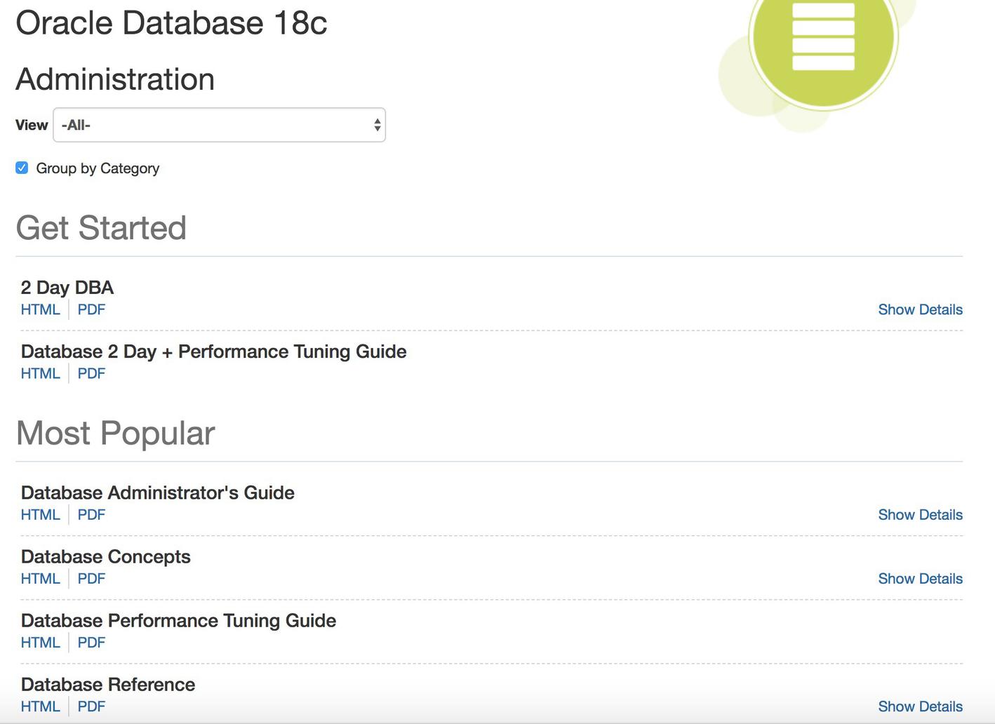 Oracle Documentation | SpringerLink