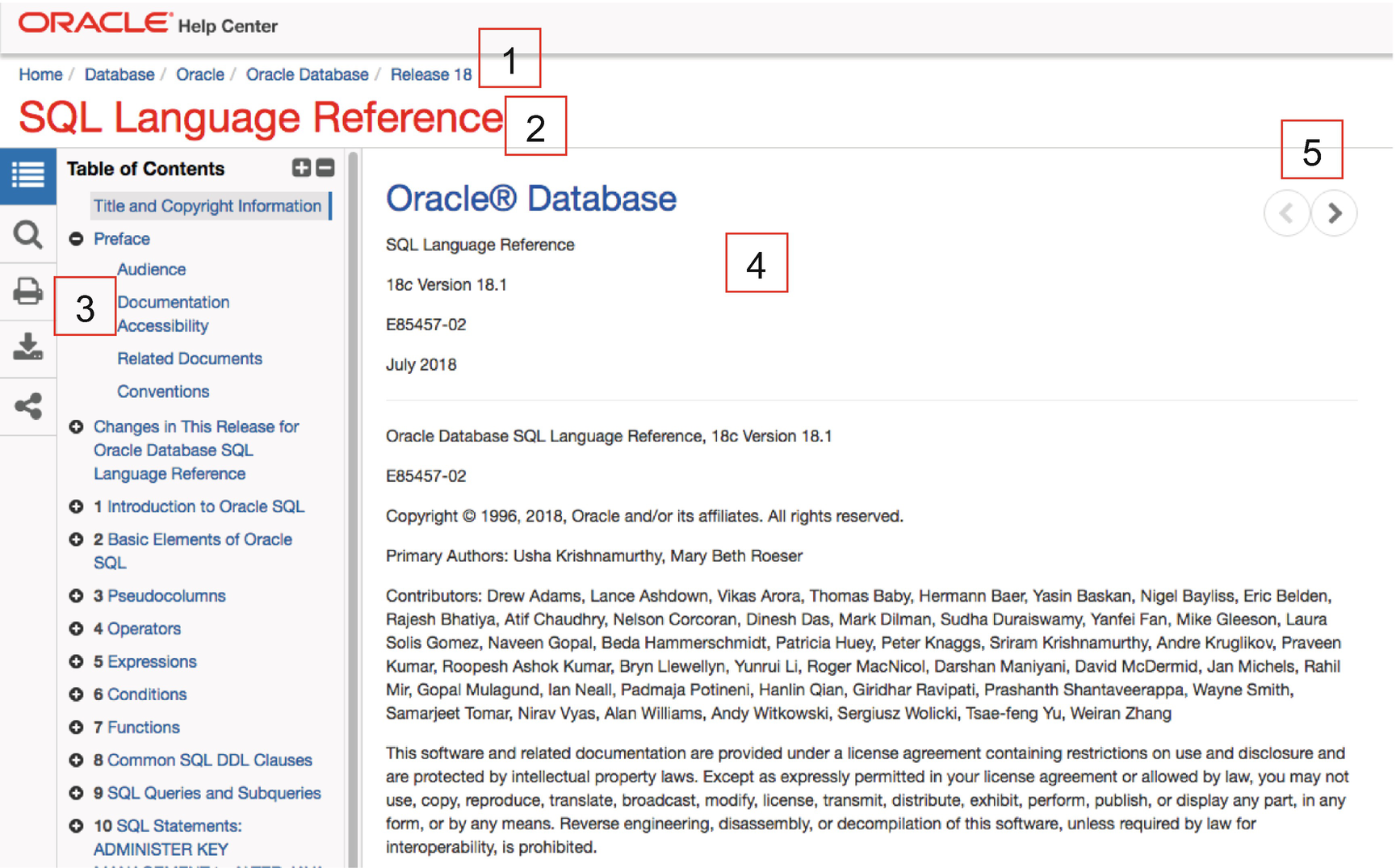 How to Find and Navigate the Oracle SQL Reference   SpringerLink