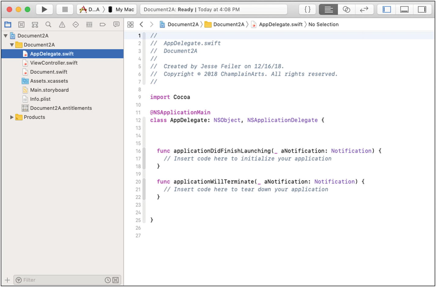Implementing Documents on macOS: NSDocument | SpringerLink