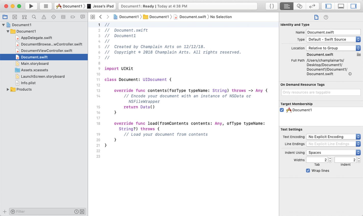 Implementing Documents on iOS: UIDocument and