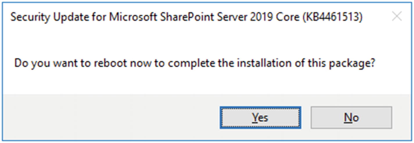 Patching SharePoint Server 2019 | SpringerLink