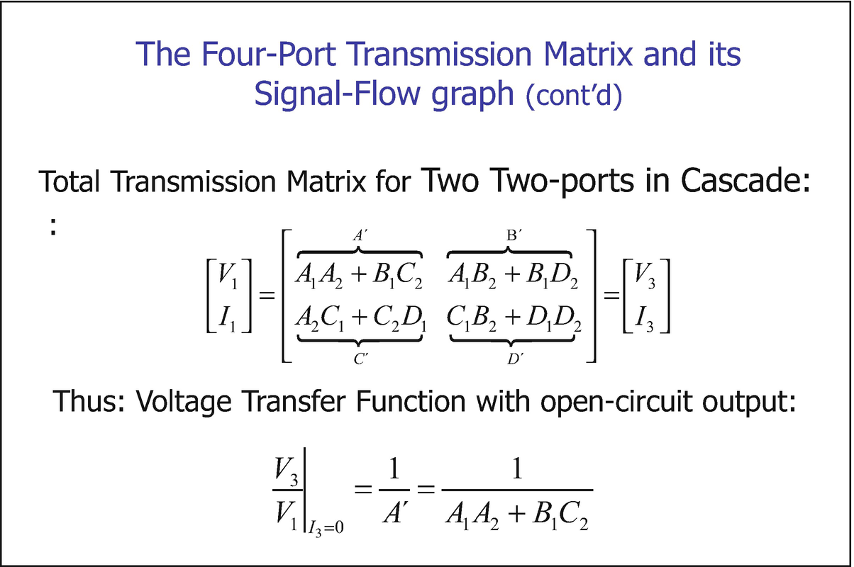 The Transmission Matrix of SC Networks and Its Signal-Flow