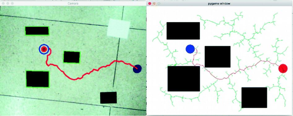 RRT Path Planning and Morphological Segmentation Based