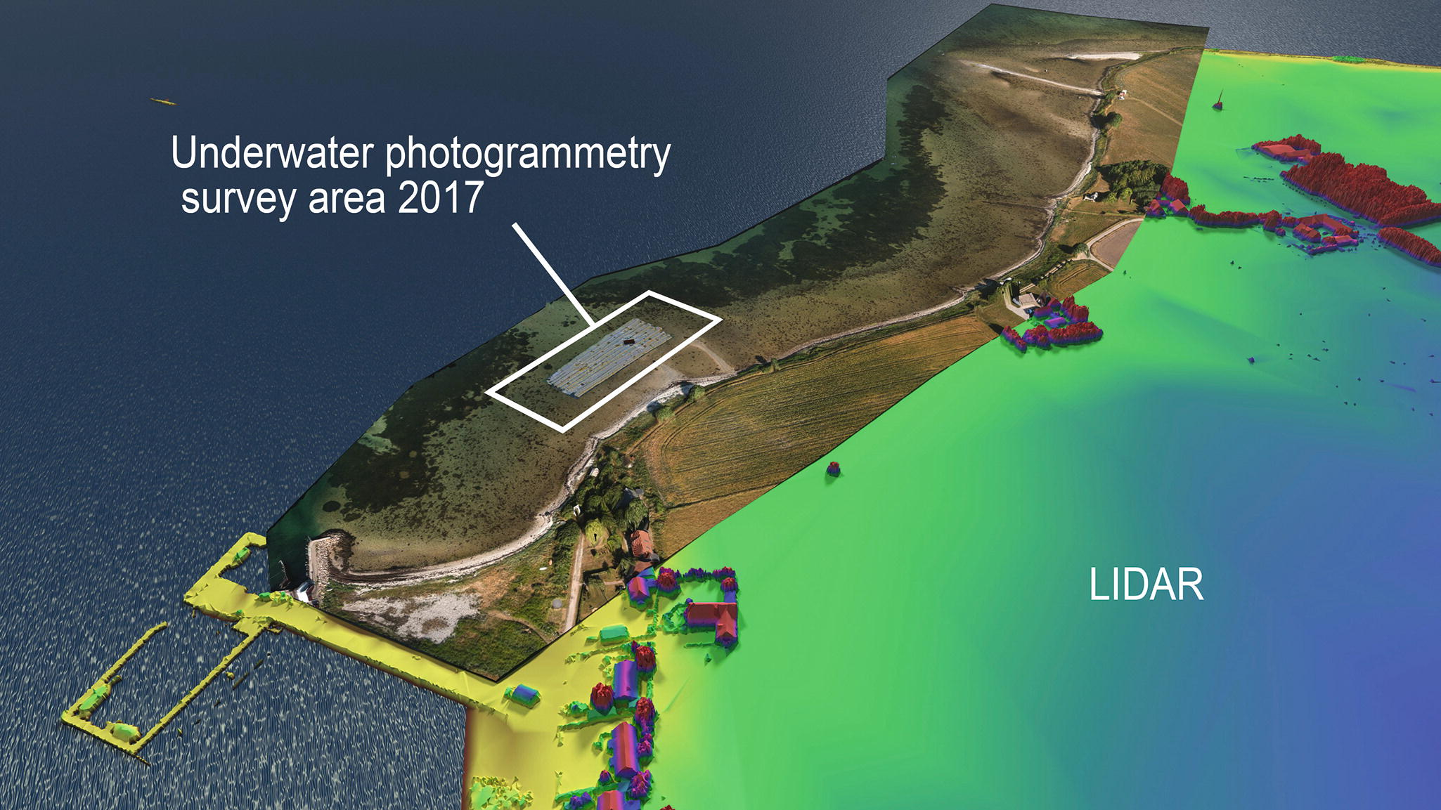 Integrating Aerial and Underwater Data for Archaeology