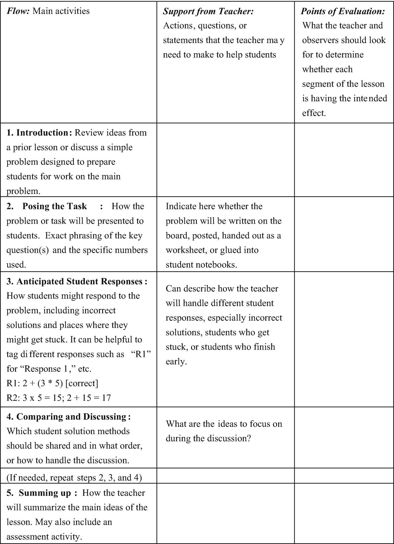 Using School-Wide Collaborative Lesson Research to Implement