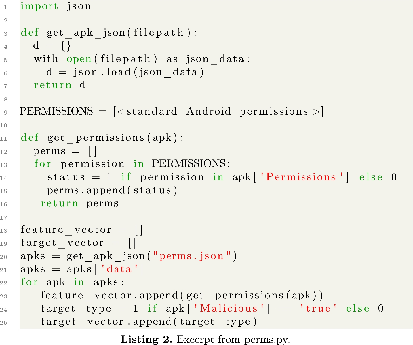 AndroParse - An Android Feature Extraction Framework and
