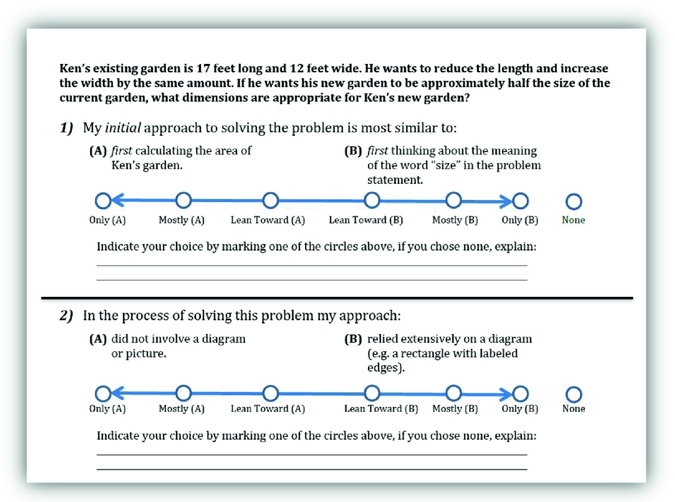 Toward Designing and Developing Likert Items to Assess Mathematical