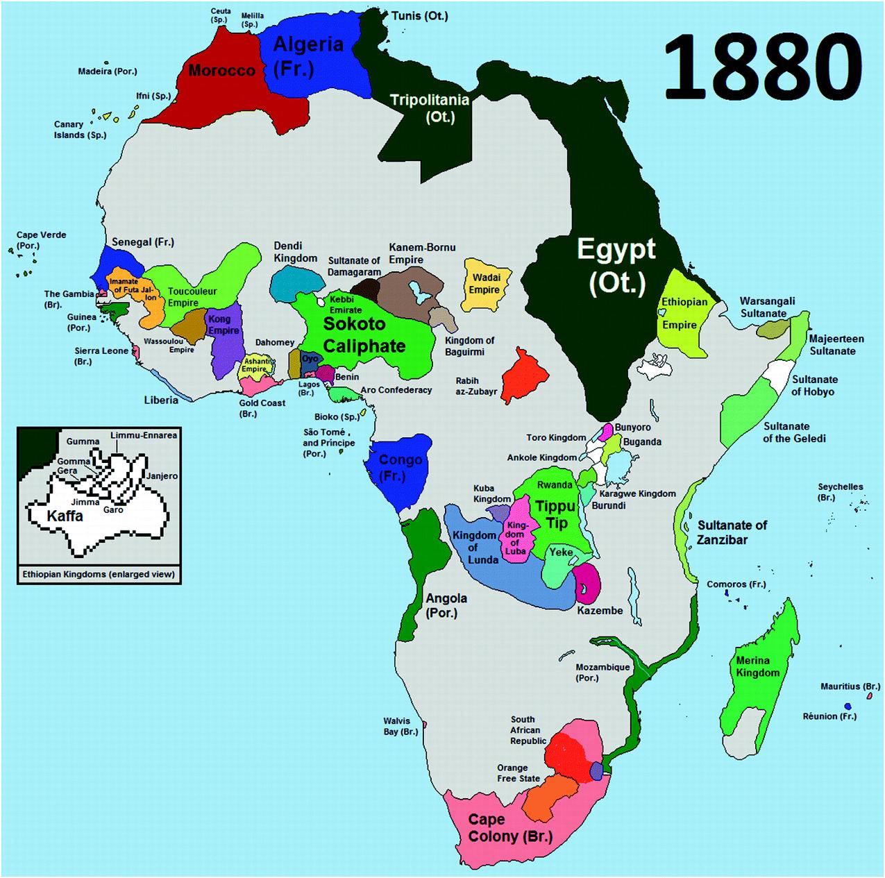 Emaciation of African Economies II: Colonisation 1880–1960