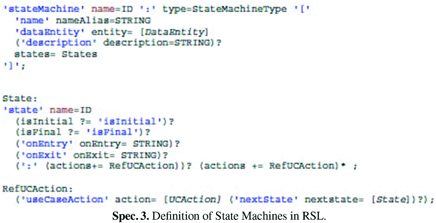 A Test Specification Language for Information Systems Based on Data