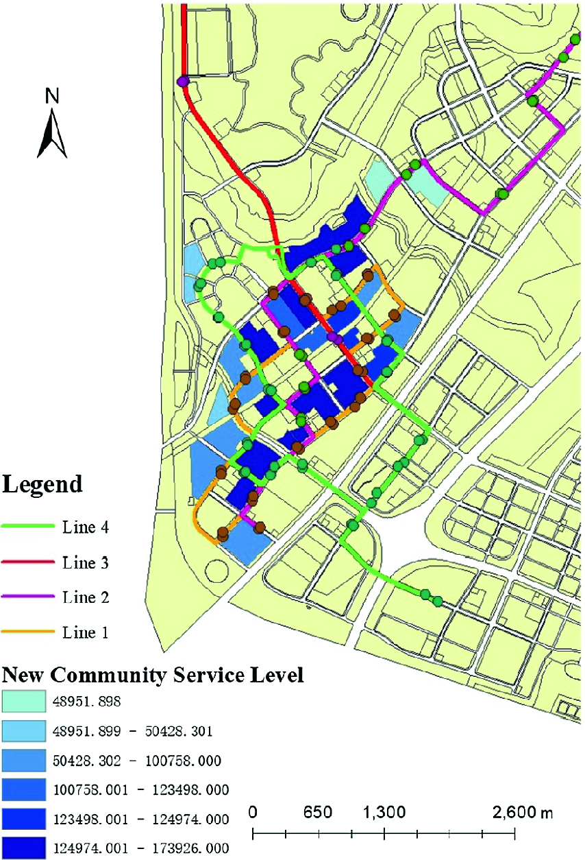 Optimization of Bus Service with a Spatio-Temporal Transport