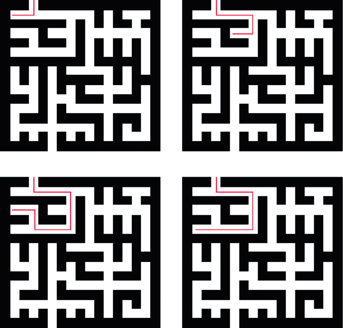Review of Maze Solving Algorithms for 2D Maze and Their