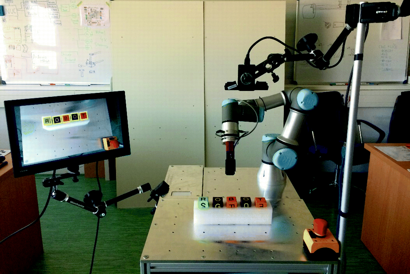 Interaction with Collaborative Robot Using 2D and TOF Camera