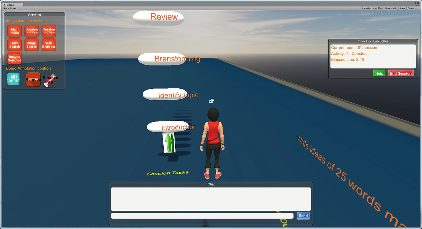Generating Virtual Worlds for Collaborative Innovation Activities: A