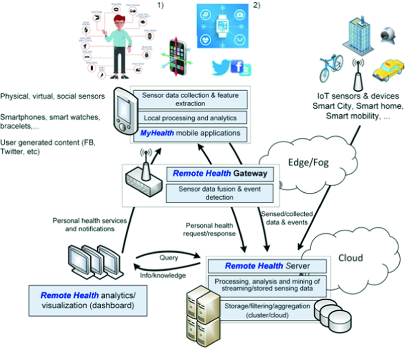 Medical Data Processing and Analysis for Remote Health and