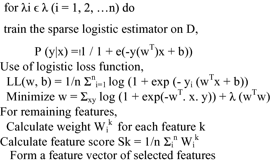 Improved Logistic Regression Approach in Feature Selection for EHR
