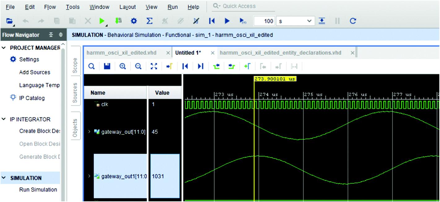 Implementation of Harmonic Oscillator Using Xilinx System