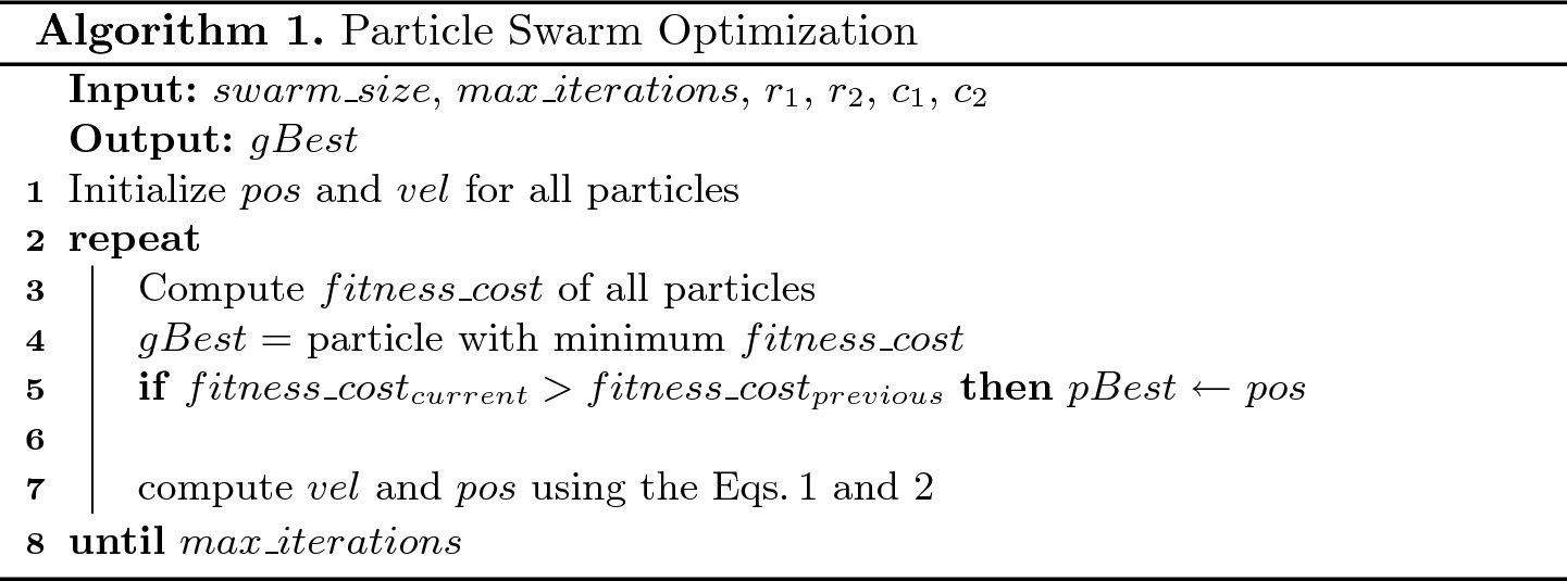 Sensor Data Cleaning Using Particle Swarm Optimization