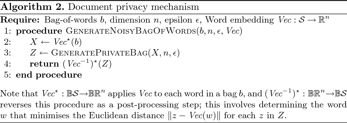 Generalised Differential Privacy for Text Document Processing