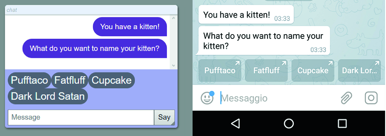 Adapting a Conversational Text Generator for Online Chatbot