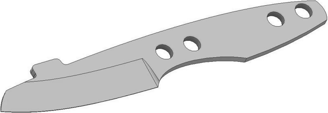 Analysis of the Geometry and Surface of the Knife Blade After