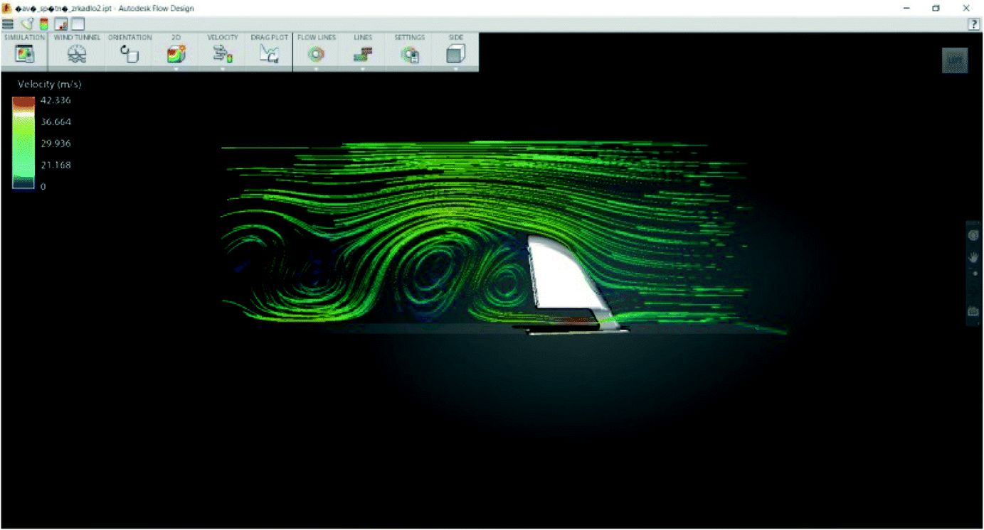 Simulation of Air Flow on the Bodywork Automobile with