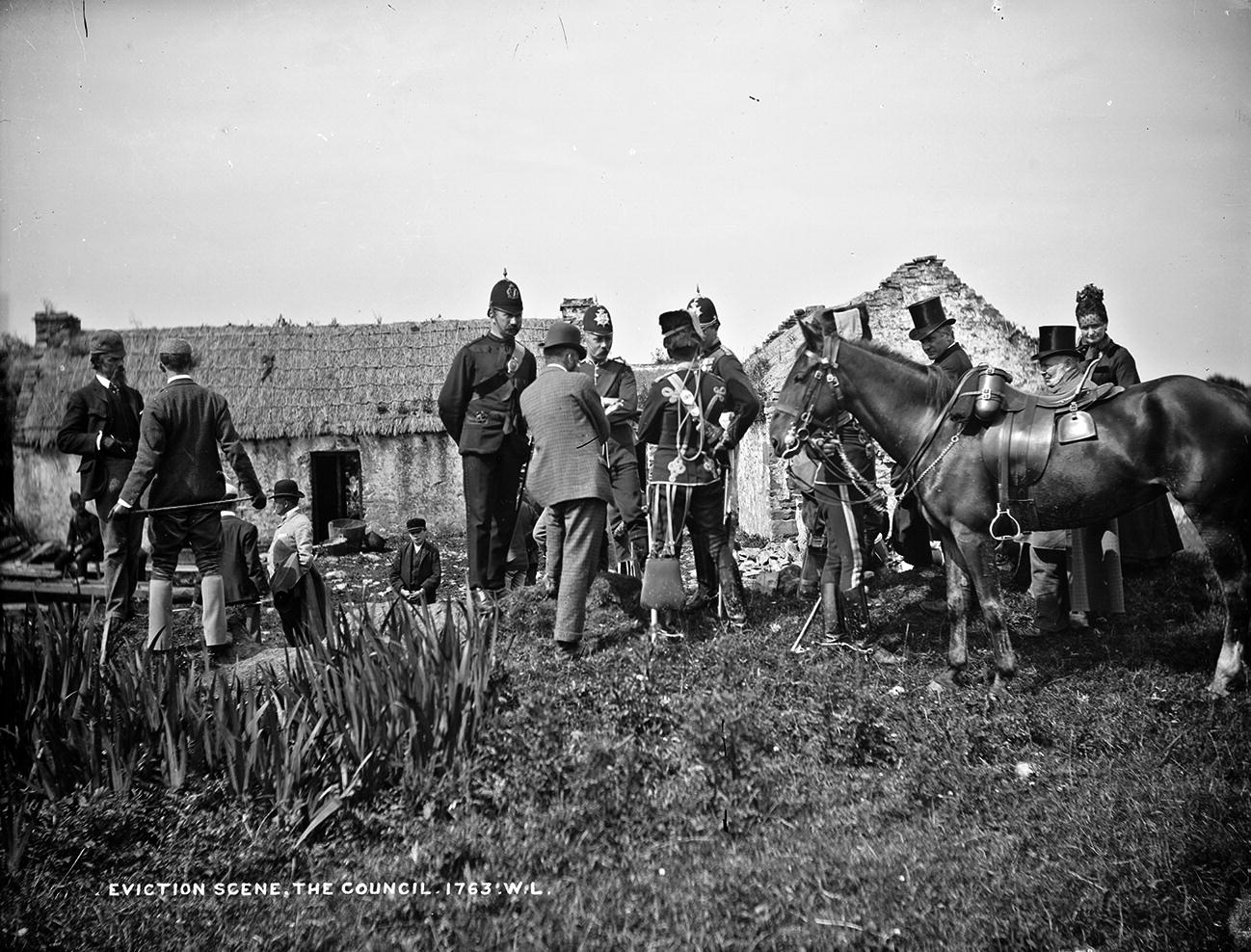 MITCHELSTOWN Scene of Fatal Riot on Cork St Ireland Antique Print 1887