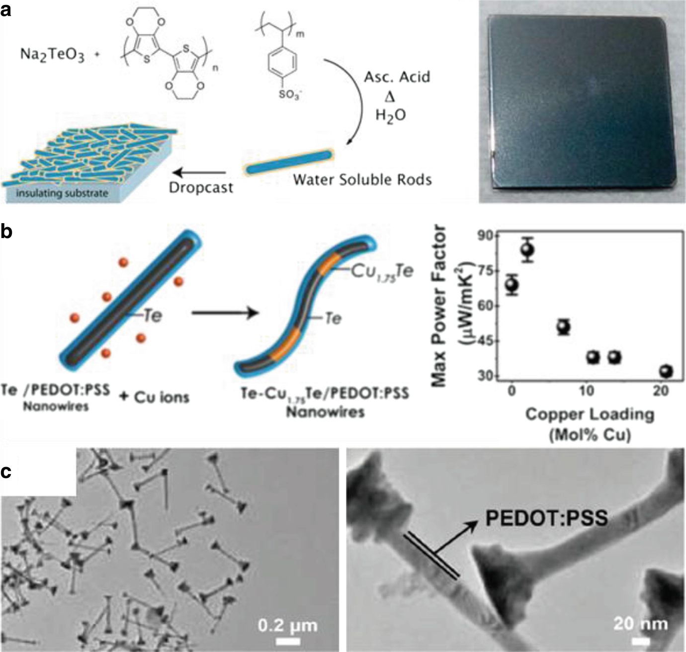 Fabrication and Thermoelectric Properties of PEDOT Films and