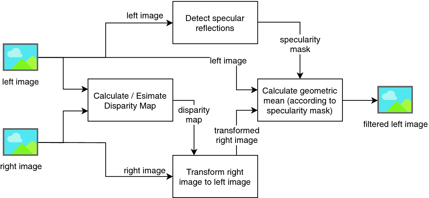Filtering Specular Reflections by Merging Stereo Images | SpringerLink