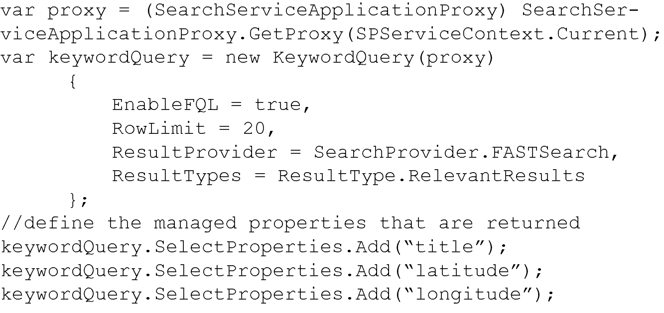 Geolocation Search with SharePoint Fast Search Feature and A (star